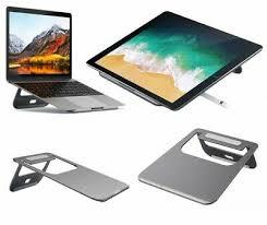 <b>Satechi</b> ST-ALTSM <b>Aluminum Portable</b> Laptop Tablet Stand Space ...