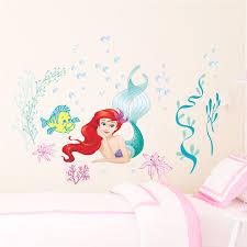 Ariel Princess <b>Mermaid</b> Underwater Bubble Wall Stickers For ...