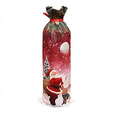 Snowman Santa Claus <b>Christmas decorations sequined</b> red wine ...
