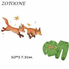 <b>ZOTOONE Cute</b> Warm Fox Patches <b>Iron</b> on Transfer Patches for ...