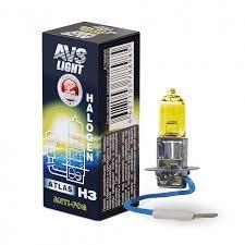 Галогенная <b>лампа AVS</b>/<b>ATLAS</b> ANTI-FOG/BOX желтый H3.24V ...