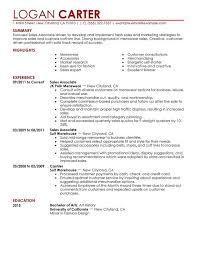 resume examples resume sample for s associate resume sample   resume sample for s associate work experience in jk polk menswear and