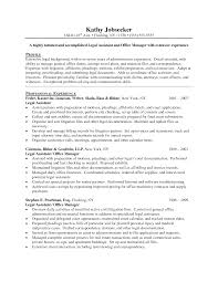 sample resume for legal assistant