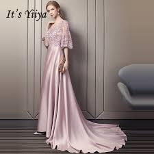 <b>It'S Yiiya Evening Dress</b> 2019 Luxury Beading Flowers Satin Bean ...