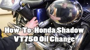 How-<b>To: Honda Shadow</b> VT750 Oil Change - YouTube
