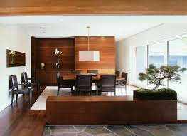 large bonsai placed exactly at the end of a low cabinet blends beautifully with this well designed modern space the bonsais windswept appearance appears add bonsai office interior