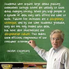 Noam Chomsky Quotes Idea. QuotesGram via Relatably.com