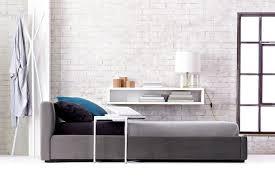 upholstered beds and headboards bedroom furniture cb2 peg