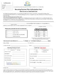 Ach recurring payment authorization fillable form Fill Online ... Fill Online