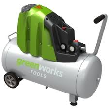 «4102007 <b>компрессор</b> масляный <b>воздушный 50л Greenworks</b> ...