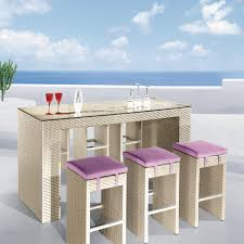 wicker bar height dining table: soho wicker dining set bar height patio sets patio bar set lowes