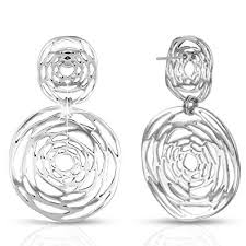 XZP 925 Silver Pin Ladies <b>Hollow Out Flower</b> Dangle Earrings Gifts