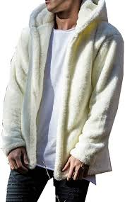 Autumn Winter <b>Men's Fleece Jacket</b> Teddy Fleece <b>Plush Jacket</b> ...