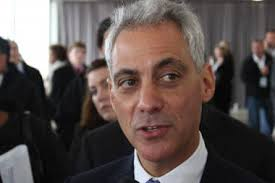 Mayor Rahm Emanuel no doubt mixed party politics with a little advice in meeting with New York City mayoral front-runner Bill de Blasio Friday. - larger