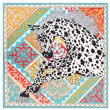 POBING <b>Luxury</b> Brand <b>Silk Scarf Women Geometric</b> Leopard ...