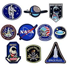 LAKIND <b>10PCS</b> NASA Badge Space Astronaut Patches ...