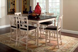 extraordinary white polished wooden dining counter height stools and square dining table in black white painted black white modern kitchen tables
