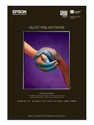 <b>Epson Velvet Fine Art Paper</b> 13x19 Inches 20 Sheets S041637 ...