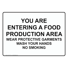 food safety kitchen signs personal protective equipment page safe food handling > food prep kitchen safety > sign