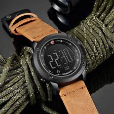 <b>KADEMAN</b> Digital Military Leather Straps Water proof Wristwatch ...