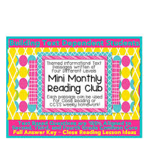 mini monthly units w close reading lesson plan ideas mini monthly units w close reading lesson plan ideas informational text passages and text dependent questions