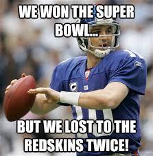 Redskins Giants memes | quickmeme via Relatably.com