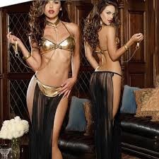 Hot <b>Sexy Lingerie Gold</b> Patent Leather Bra Long Veil Pole Dancing ...
