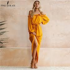 2019 <b>Pinky Is Black</b> Women Beach Boho Maxi Dress 2018 Summer ...