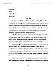 essays on the yellow wallpaper