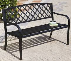 black steel garden bench black garden furniture