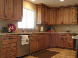 cheap kitchen cupboard: breathtaking cheap narrow space kitchen design with rustic wood l shaped kitchen cabinets and impressive plantation