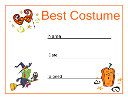 halloween best costume certificate halloween party ideas halloween best costume certificate