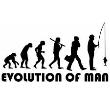 <b>CS</b> 279#11*20cm The evolution of man Fisherman. Fishing funny ...