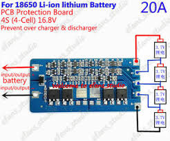 <b>4S</b> 20A <b>14.8V 16.8V Li-ion Lithium</b> 18650 Battery BMS PCM ...