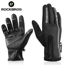 <b>ROCKBROS Touch Screen</b> Bike Gloves Winter Thermal Windproof ...