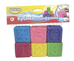 "Игрушка-пищалка для ванной ""<b>Кубики с</b> цифрами"", 6 шт., ТМ ..."