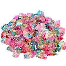 SUNYIK Rainbow <b>Titanium Coated</b> Rough <b>Crystal Point</b> Raw Rock