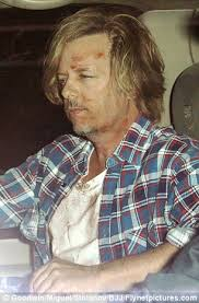Sitcom stars: Rules of Engagement actor David Spade arrived looking bruised and bloody while That 70s Show's Topher Grace decided not to dress up - article-2055316-0E99EA2C00000578-988_306x464