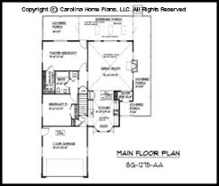 Small Country Style House Plan SG  Sq Ft   Affordable Small    SG  Main Floor Plan