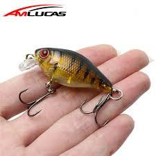 2019 Amlucas <b>Minnow</b> Fishing Lure <b>45mm</b> 4.4g Crankbait Hard <b>Bait</b> ...