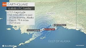 Magnitude-7.1 Alaska earthquake cuts power to thousands
