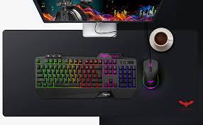 Havit Keyboard Rainbow Backlit Wired <b>Gaming Keyboard</b> Mouse ...