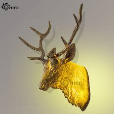 Nordic Resin Elk <b>Wall Lamp</b>, <b>Retro Creative</b> Bedroom Aisle ...