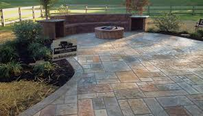 stone patios concrete patio raised ideas