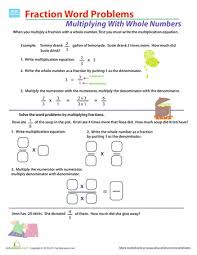 5th Grade Word Problems Worksheets & Free Printables | Education.comWorksheet. Fraction Multiplication Word Problems