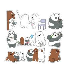 <b>36 Pcs</b>/<b>set</b> We Bare Bears Stickers Crtoon <b>Cute</b> Little Bear Sticker ...