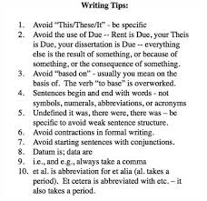 thesis writing advice