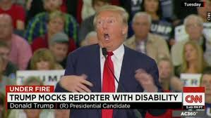 Image result for trump disabled man images