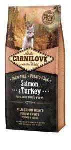 <b>BRIT CARNILOVE DOG SALMON</b> + TUREK FOR LARGE BREED ...