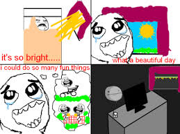 Meme Comic - A beautiful day via Relatably.com